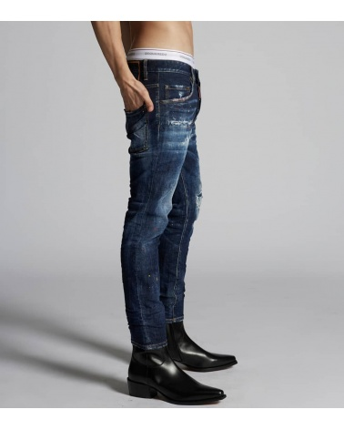 Dsquared2 Jeans Pintura Red Yellow modelo lateral