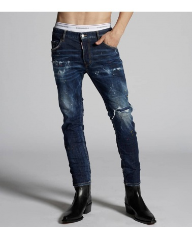 Dsquared2 Jeans Pintura Red Yellow modelo