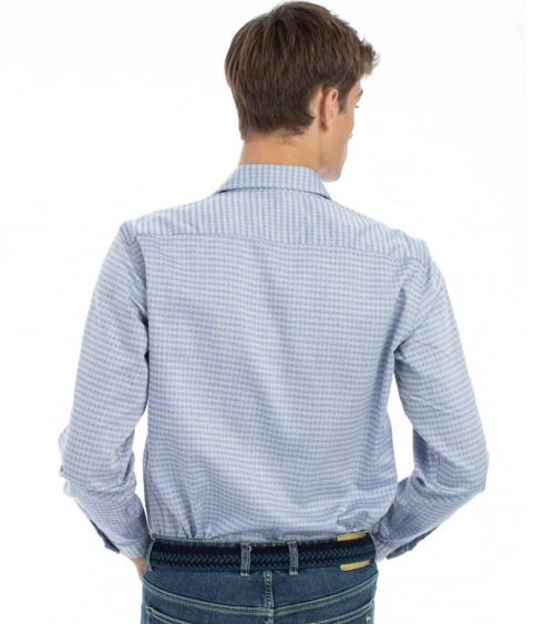 Harmont & Blaine Camisa Pata de Gallo Azul modelo espalda