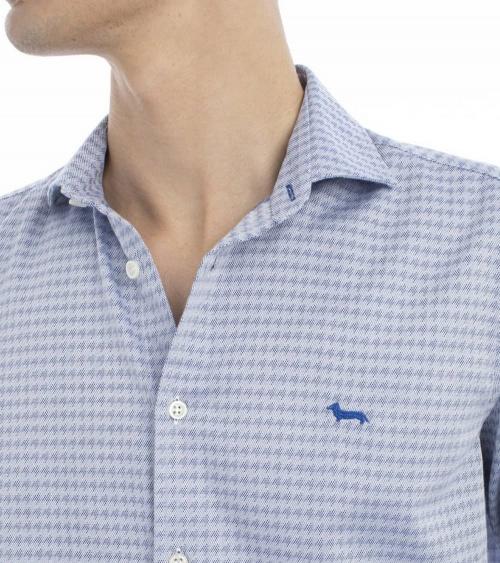 Harmont & Blaine Camisa Pata de Gallo Azul detalle