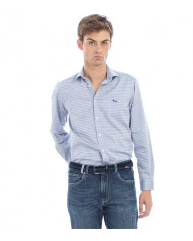 Harmont & Blaine Camisa Pata de Gallo Azul modelo