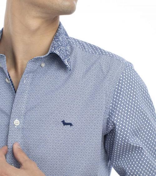Harmont & Blaine Camisa Multiprint Cross detalle