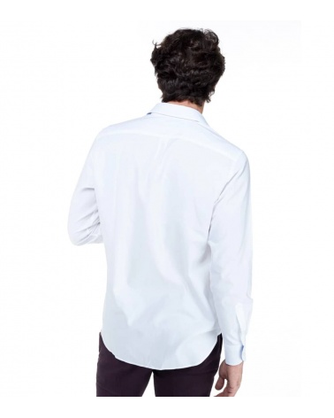 Harmont & Blaine Camisa Básica Blanca modelo espalda