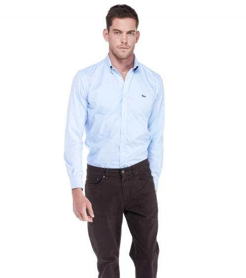 Harmont & Blaine Camisa Básica Celeste modelo