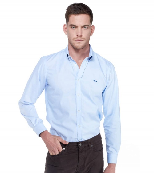 Harmont & Blaine Camisa Básica Celeste