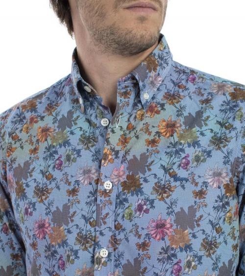Harmont & Blaine Camisa Flowers Multicolor detalle