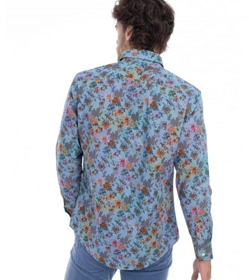 Harmont & Blaine Camisa Flowers Multicolor modelo espalda