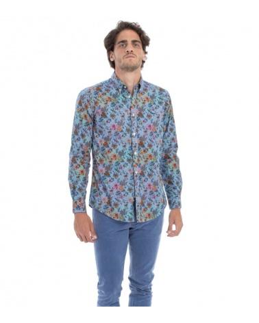 Harmont & Blaine Camisa Flowers Multicolor modelo