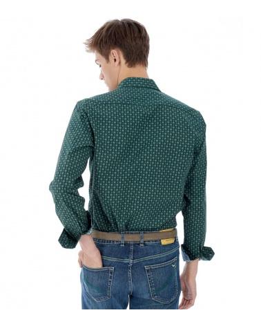Harmont & Blaine Camisa Retro Lunares modelo espalda