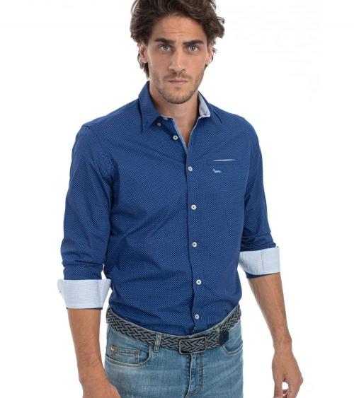 Harmont & Blaine Camisa Azul Minicruces