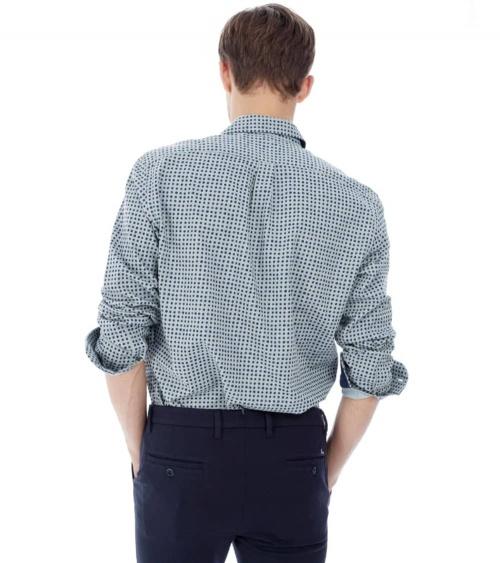 Harmont & Blaine Camisa Gris Puntos modelo espalda