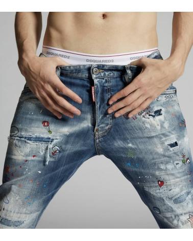 Dsquared2 Jeans Skater Comic Strass detalle
