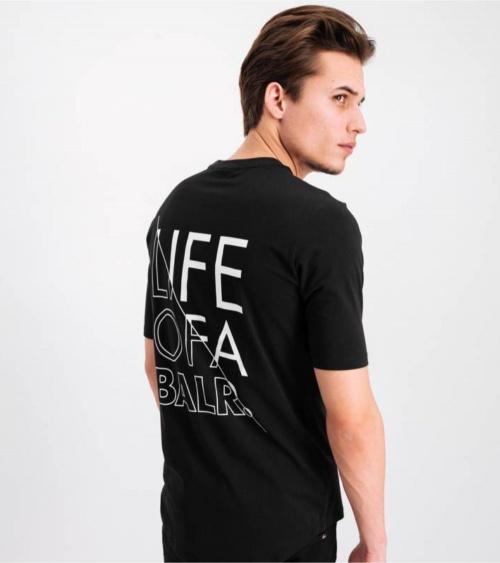 BALR Camiseta Atlética Black modelo detrás