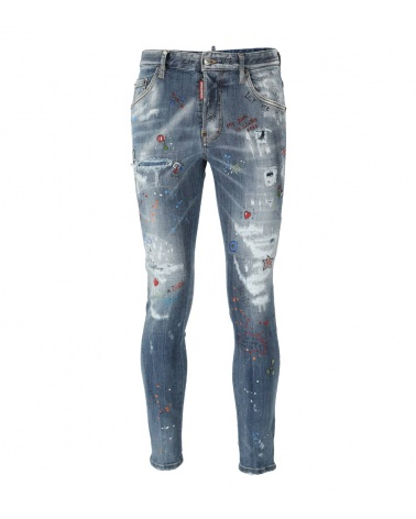 Dsquared2 Jeans Skater Comic Strass