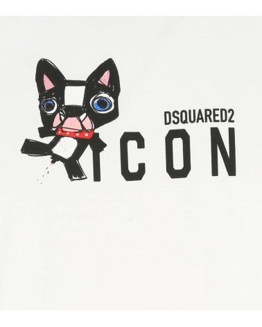 Dsquared2 Camiseta Blanca Bulldog detalle
