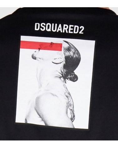 Dsquared2 Camiseta Ibrahimovic Negra detalle espalda