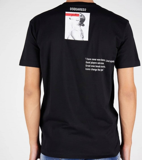 Dsquared2 Camiseta Ibrahimovic Negra espalda
