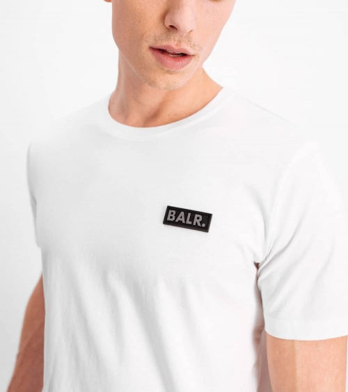 BALR Camiseta Blanca Minilogo Metal detalle
