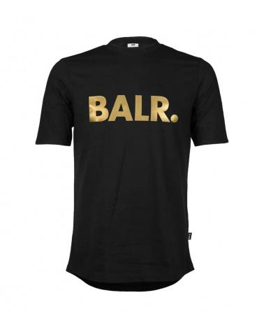 BALR Camiseta Negra Logo Dorado