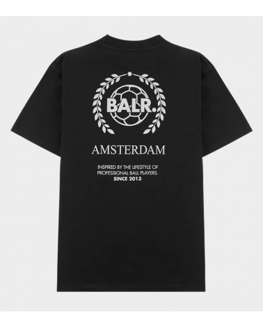 BALR Camiseta Amsterdam Negra espalda