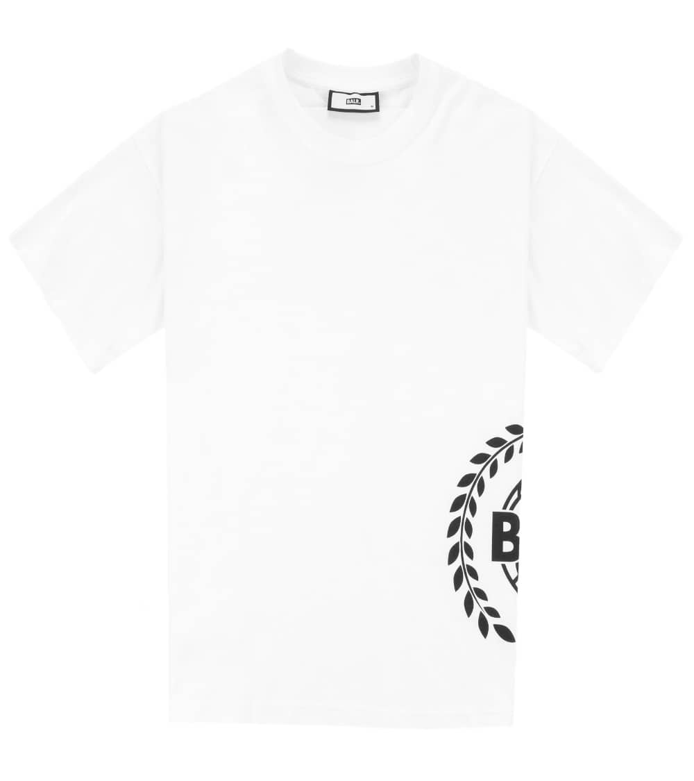 BALR Camiseta Blanca Logo Lateral