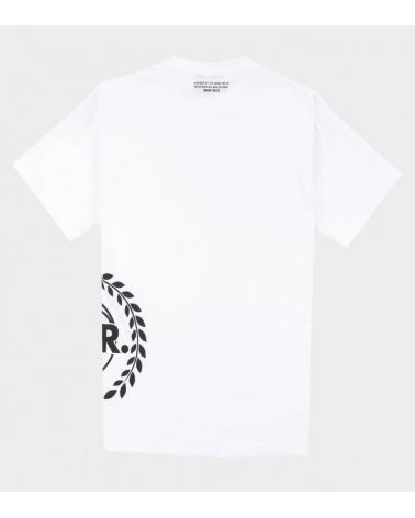 BALR Camiseta Blanca Logo Lateral espalda
