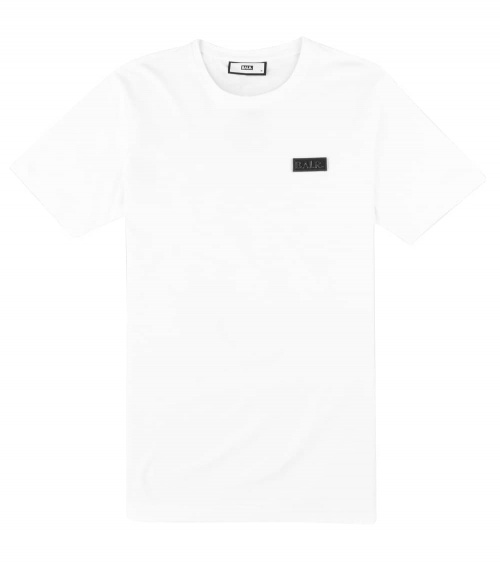 BALR Camiseta Blanca Minilogo Metal