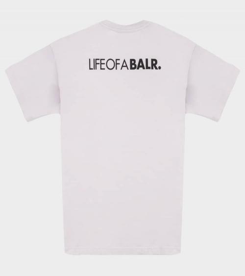 BALR Camiseta Life Gris Perla espalda