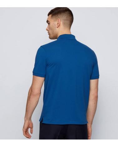 Hugo Boss Polo Pique Azulón espalda