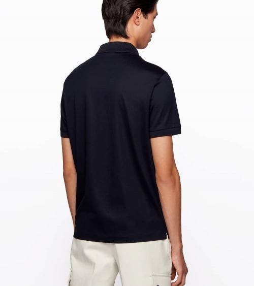 Hugo Boss Polo Estilo Camisa Marino espalda