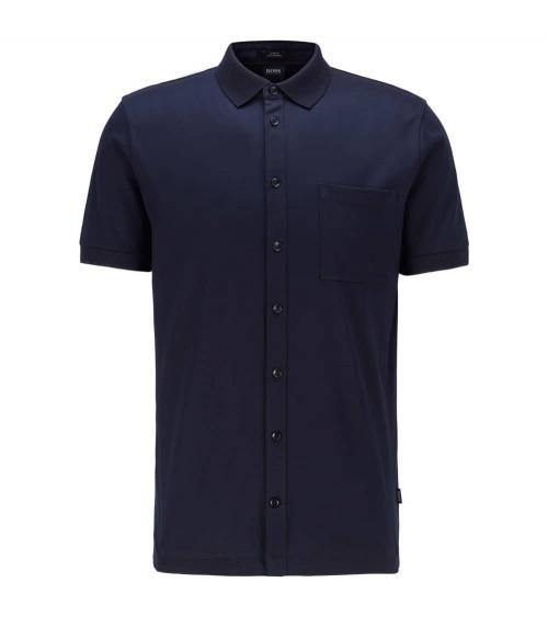 Hugo Boss Polo Estilo Camisa Marino