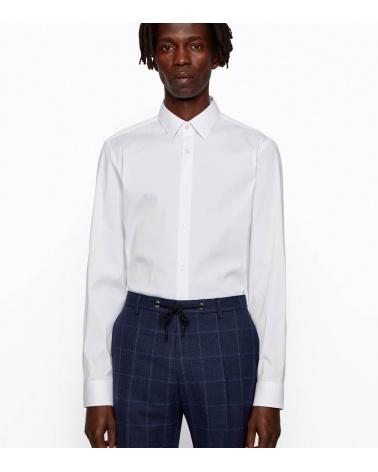 Hugo Boss Camisa Slim Popelín Blanca modelo