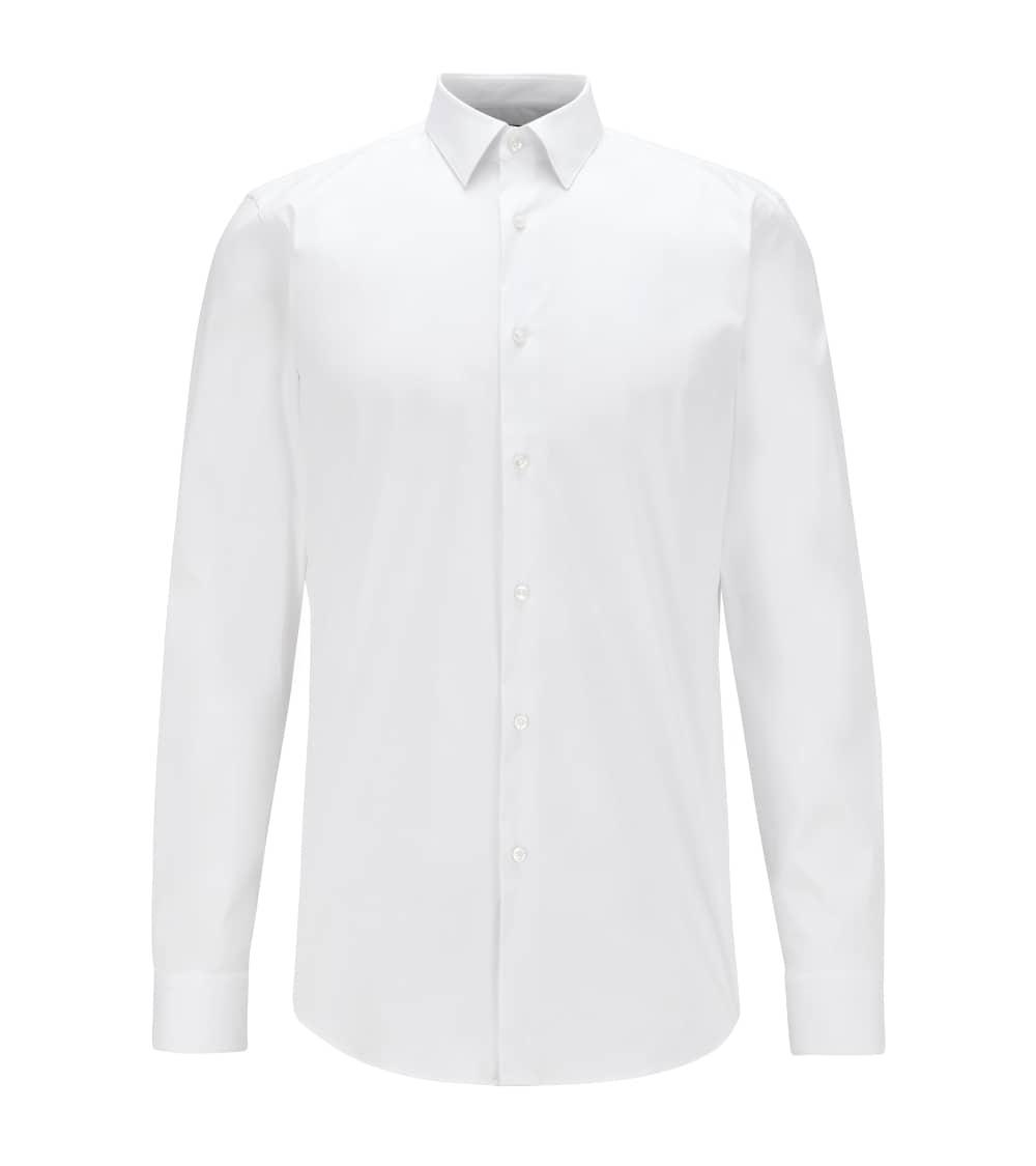 Hugo Boss Camisa Slim Popelín Blanca