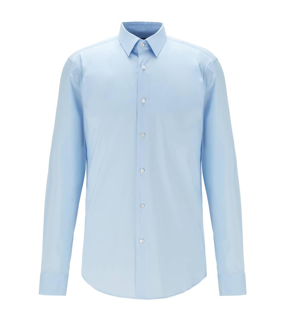 Hugo Boss Camisa Slim Popelín Celeste
