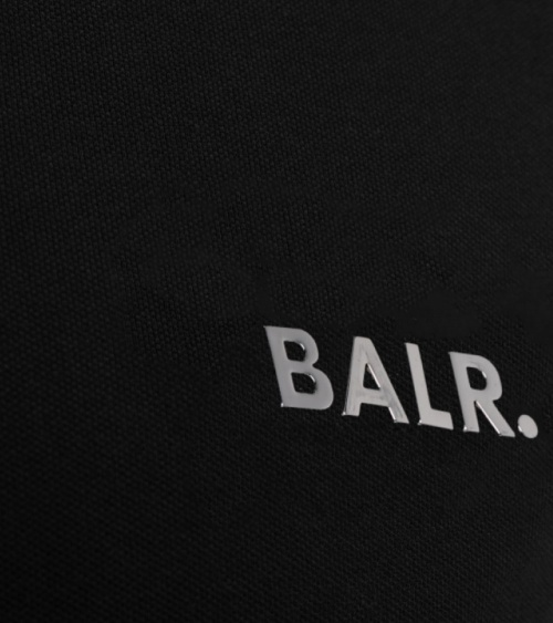 BALR Polo Shirt Black detalle