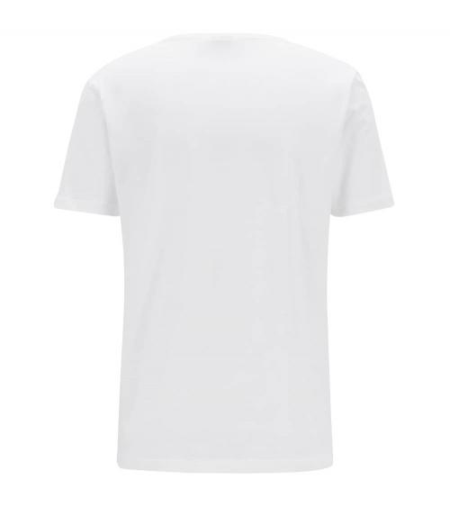 Hugo Boss Camiseta Básica Blanca Hilo espalda