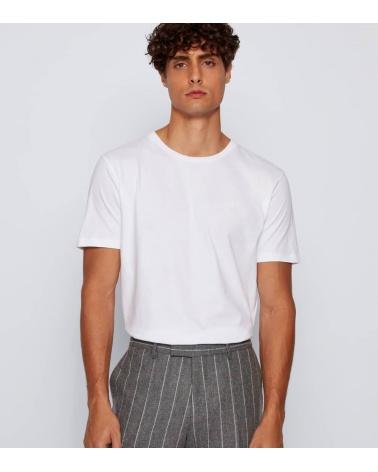Hugo Boss Camiseta Básica Blanca Hilo modelo