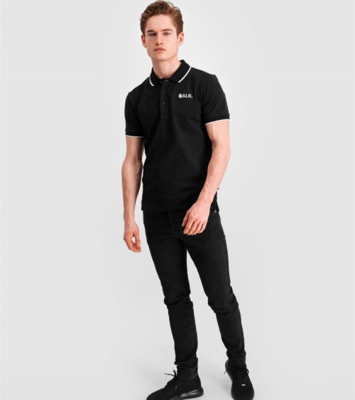 BALR Polo Shirt Black modelo grande