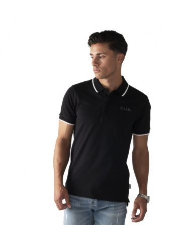 BALR Polo Shirt Black modelo