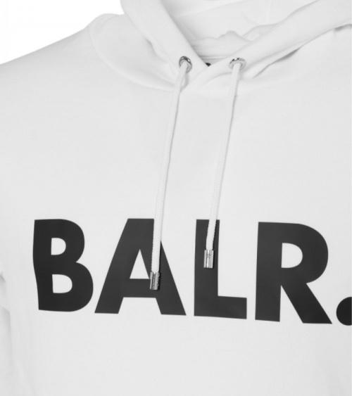 BALR Sudadera Logo Frontal Blanca detalle