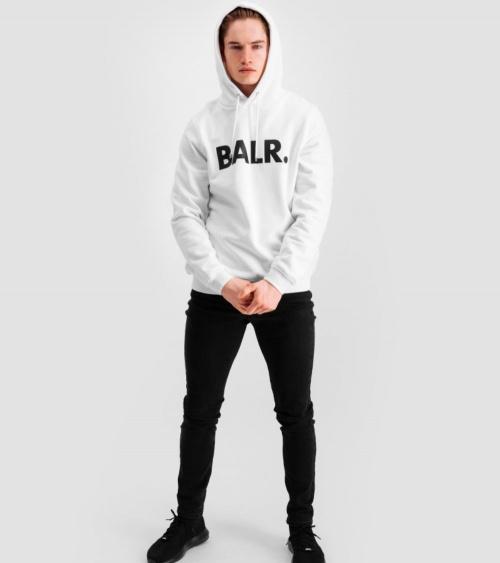 BALR Sudadera Logo Frontal Blanca modelo
