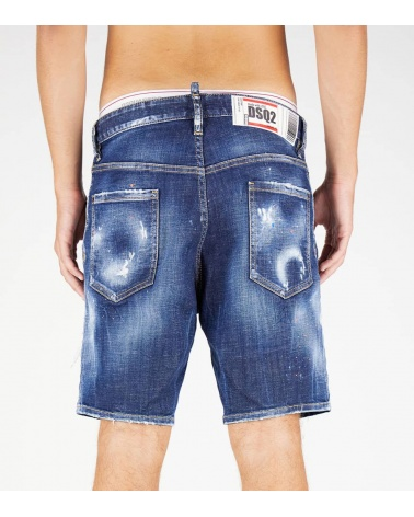 Dsquared2 Bermuda Jeans Etiqueta Love detrás