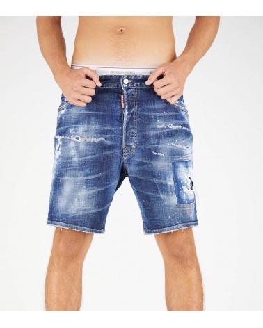 Dsquared2 Bermuda Jeans Etiqueta Love modelo