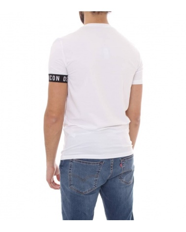 Dsquared2 Camiseta Interior Blanca modelo espalda