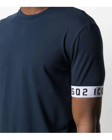 Dsquared2 Camiseta Interior Marino modelo detalle