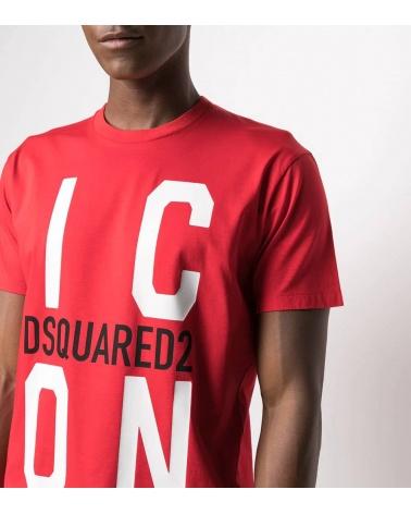 Dsquared2 Camiseta Big Icon Roja detalle