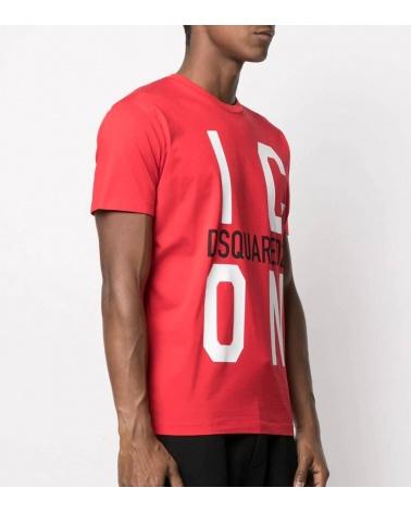 Dsquared2 Camiseta Big Icon Roja modelo