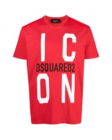 Dsquared2 Camiseta Big Icon Roja