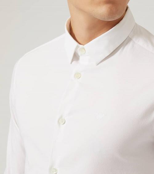 Emporio Armani Camisa Elástica Blanca cuello