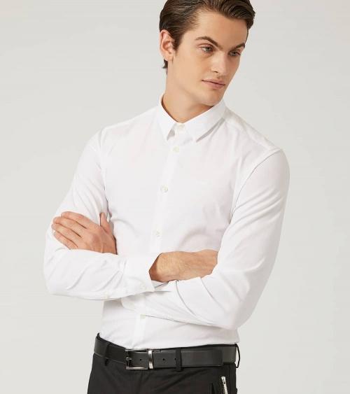 Emporio Armani Camisa Elástica Blanca modelo